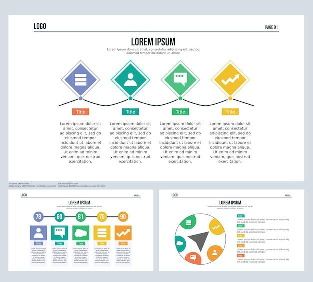 Fala, diament, oś czasu, kula, zestaw slajdów prezentacji i szablon powerpoint