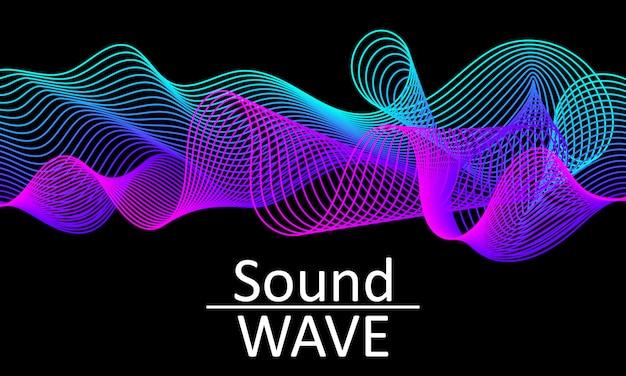 Fala dźwiękowa. abstrakcyjny kształt. pływ .