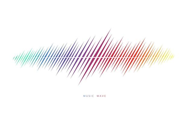 Fala dźwiękowa kolorowe tło. mówiący gumiak. ilustracja wektorowa