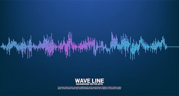 Fala dźwiękowa music equalizer background. głos muzyczny sygnał audiowizualny