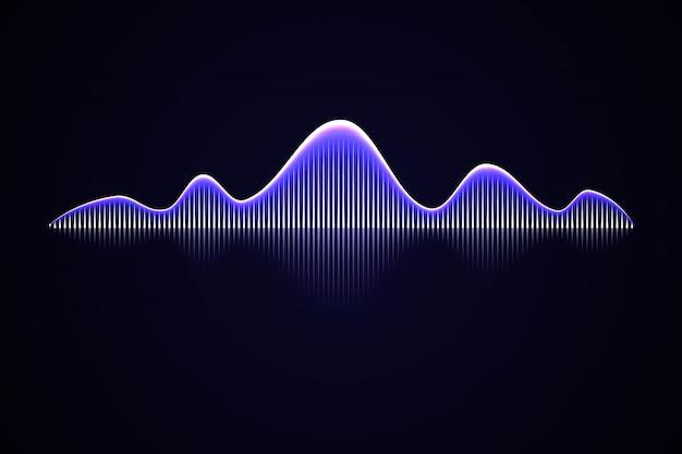 Fala dźwiękowa muzyki abstrakcyjnej,