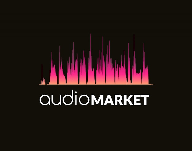 Fala dźwiękowa szablonu logo