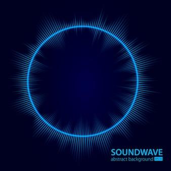 Fala dźwiękowa wektor abstrakcyjne tło muzyka fala radiowa znak dźwięku cyfrowego zapisu wibracji