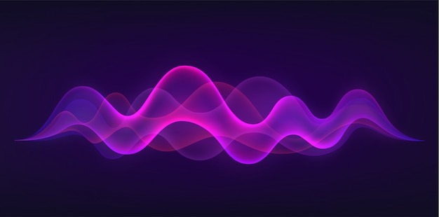 Fala dźwiękowa z imitacją głosu, dźwięku. koncepcja rozpoznawania głosu.