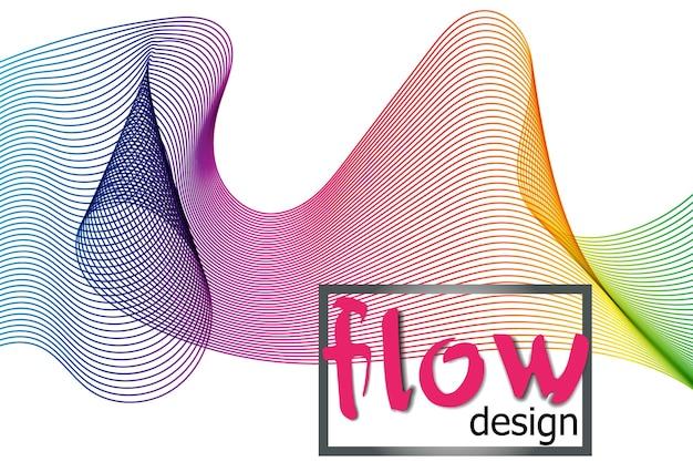 Fala kolorowe tekstury na ciemnym tle. projektowanie kształtów przepływu. płynna fala tło. abstrakcyjny kształt płynu 3d. kolorowy wzór. nowoczesne, płynne kolory.
