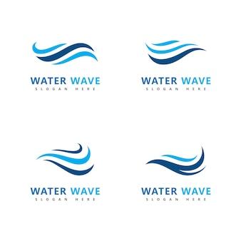 Fala logo symbol wektor ilustracja projekt