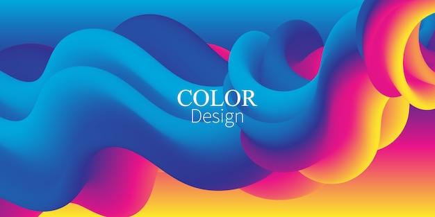 Fala. płynne kolory. płynny kształt. rozprysk atramentu.