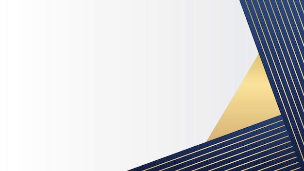 Fala streszczenie tło z efektem dynamicznym. ilustracja ruchu w kolorze niebieskim i złotym. modne gradienty.