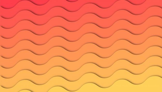 Fala streszczenie tło z kształtów cięcia papieru.