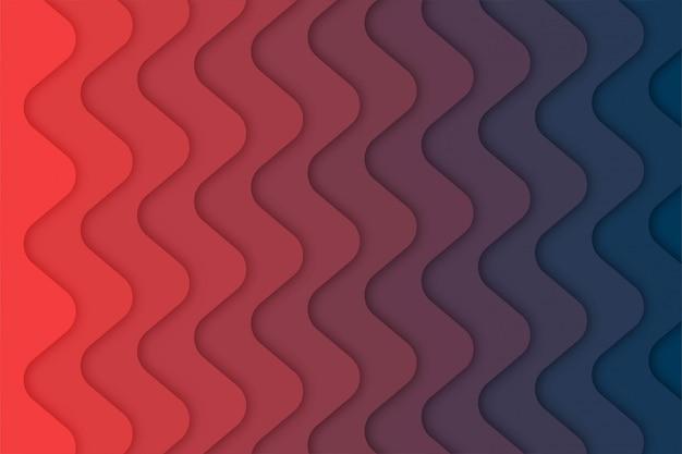 Fala streszczenie tło z kształtów wyciętych z papieru,