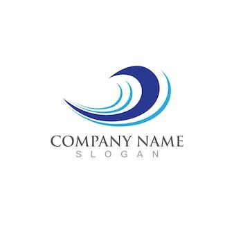 Fala wody ikona wektor ilustracja projekt logo