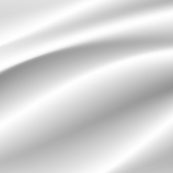 Fala z białej tkaniny jedwabnej nakłada się na światło i cień. białe i szare streszczenie tło