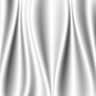 Fala z białej tkaniny jedwabnej nakłada się na światło i cień. biały i szary streszczenie tekstura tło
