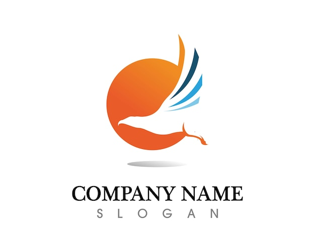 Falcon eagle ptak logo szablon wektor ikona