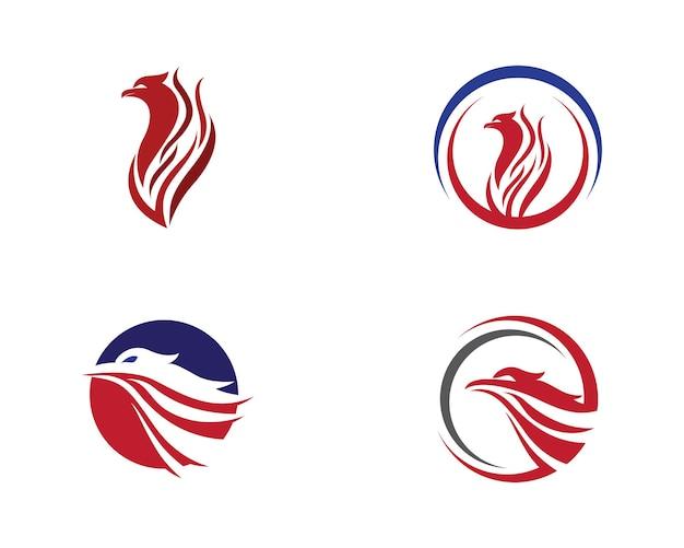 Falcon wing logo szablon wektor ikona designu