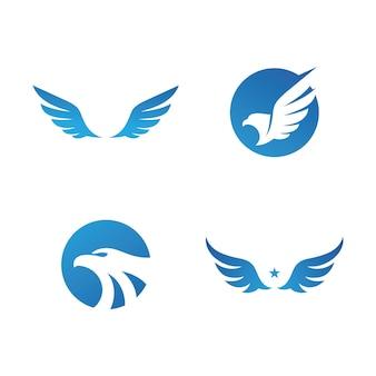 Falcon wing logo wektor ikona projektu szablonu