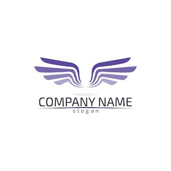Falcon wings logo szablon ikona aplikacja do projektowania logo