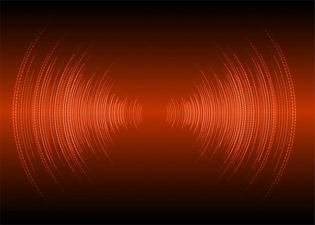 Fale dźwiękowe ciemne pomarańczowe tło światło