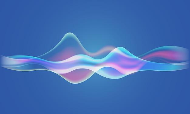 Fale dźwiękowe głośnika tło