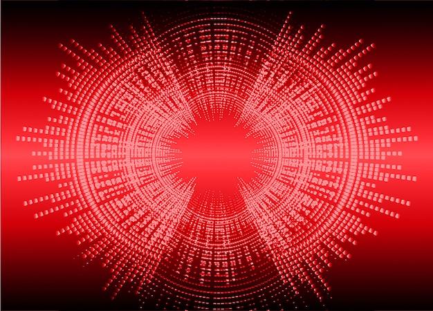 Fale dźwiękowe oscylują ciemnoczerwonym światłem