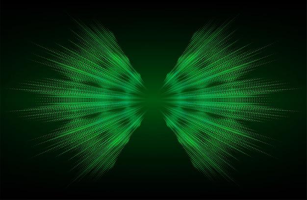 Fale dźwiękowe oscylujące ciemnozielone światło tła