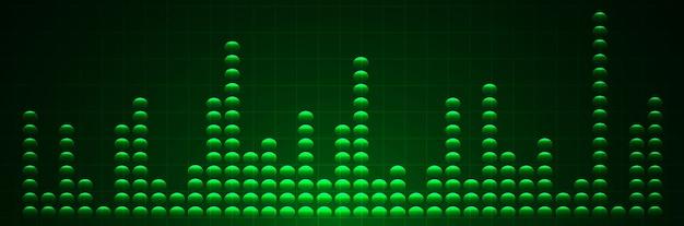 Fale dźwiękowe oscylujące ciemnozielone światło