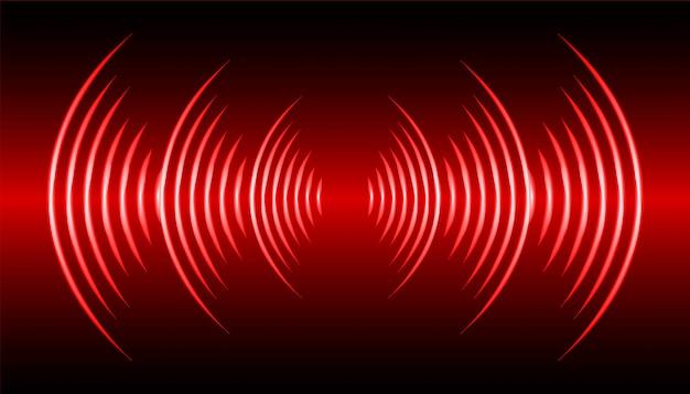Fale dźwiękowe oscylujące w ciemno czarnym świetle
