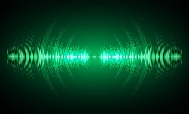 Fale dźwiękowe oscylujące w ciemnym świetle