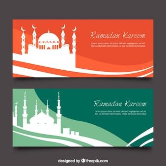 Fale ramadan transparenty z sylwetką