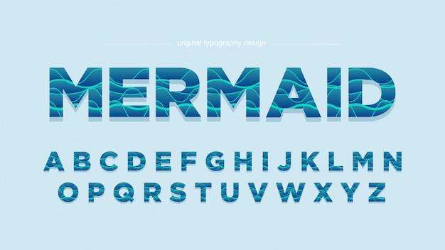 Fale streszczenie zielona typografia