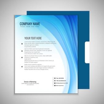 Falista broszura szablon