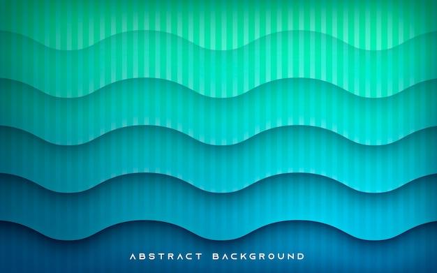 Falista tekstura na niebieskim tle gradientu