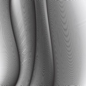 Faliste linie tła