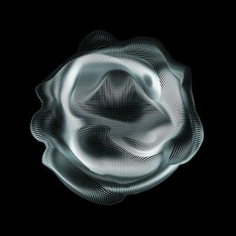 Faliste linie tworzące okrąg
