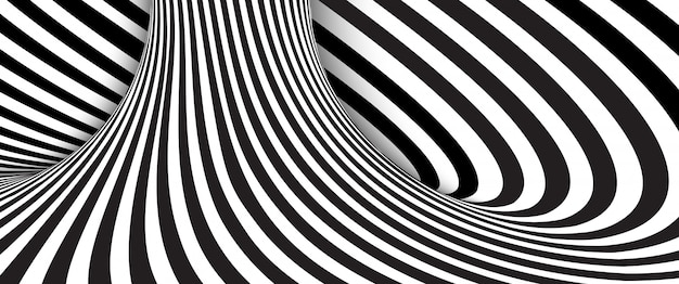 Faliste paski czarno-białe tło.