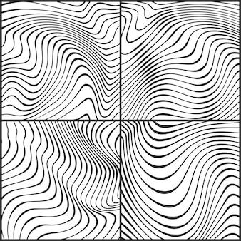 Faliste prążkowane wzory