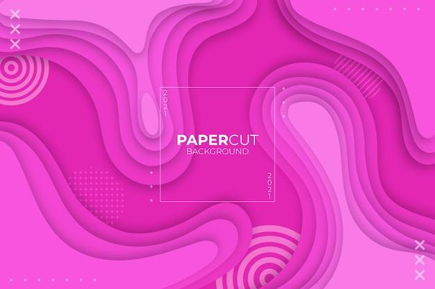 Faliste różowe tło w stylu papieru