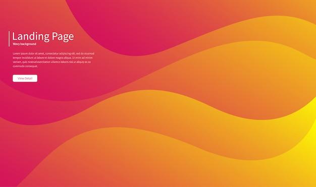 Faliste tło geometryczne. skład płynnych kształtów gradientowych.