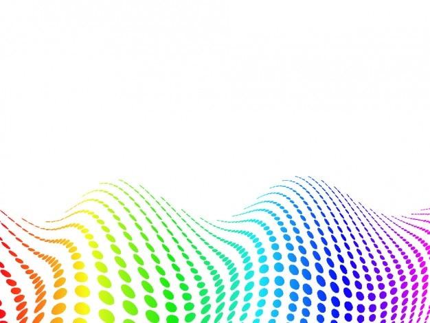 Faliste tło kropki kolorów