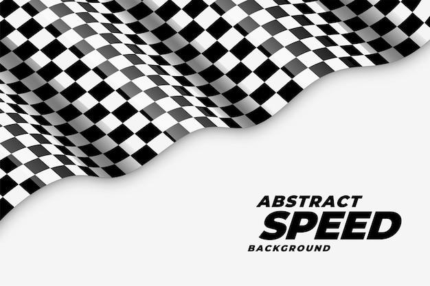 Faliste tło prędkości flagi wyścigowej w kratkę