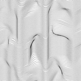 Falisty abstrakcjonistyczny bezszwowy tło wzór. czarny i biały. fale