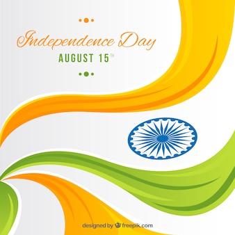 Falisty indianin dnia niepodległości tło