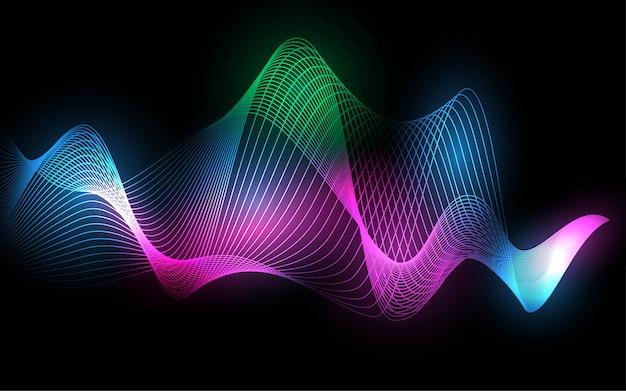 Falowy linii wireframe abstrakta tło