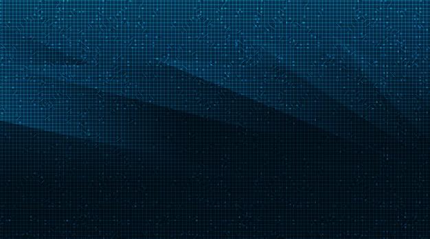 Falowy obwód microchip na tle technologii, zaawansowanej technologii cyfrowej i koncepcji bezpieczeństwa
