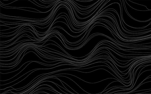 Falowych tekstur tła czarny wektor