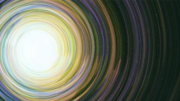 Fantastyczna interstella na tle galaktyki ze spiralą drogi mlecznej, wszechświatem i gwiazdami.