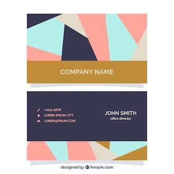 Fantastyczna kart korporacyjnych w stylu geometrycznym
