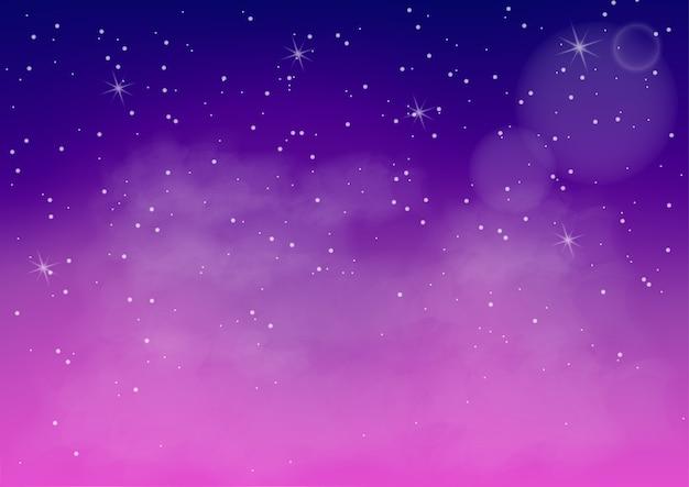 Fantastyczna kolorowa galaktyka