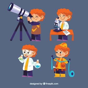 Fantastyczna opakowanie cute dziecko nauki