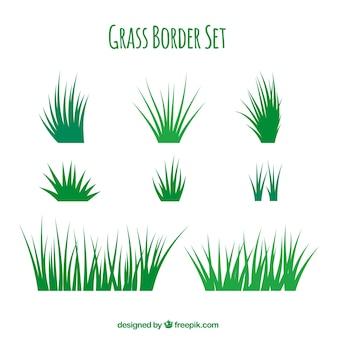 Fantastyczne granice trawy z różnych wzorów